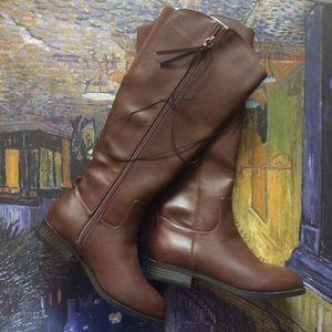 Universal Thread Knee High Zipper Boots